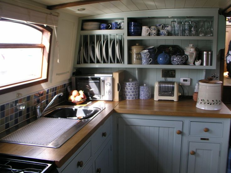 New nesting ideas for your narrowboat for Boat kitchen cabinets