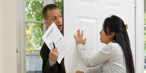 annoying sales person