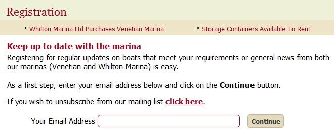 Register with Venetian Marina